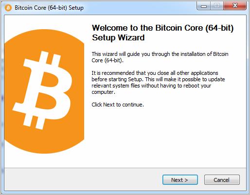 Bitcoin start installation
