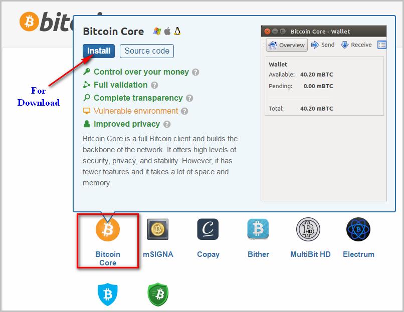 Bitcoin wallet offline