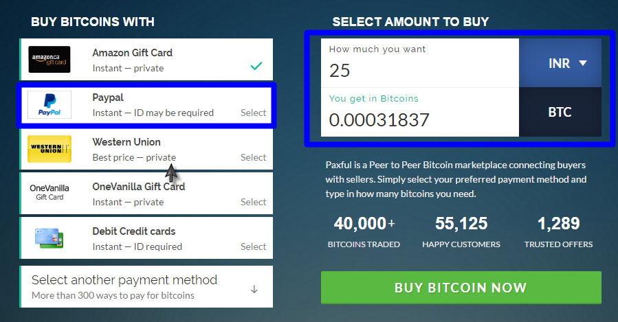 How to buy bitcoins with paypal localbitcoins paxful wirex enter the amount for which you need to buy bitcoins again on this next page make sure that the amount is 400 only then paxful allows a paypal ccuart