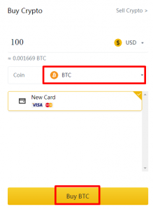 Buy BTC with debit cards