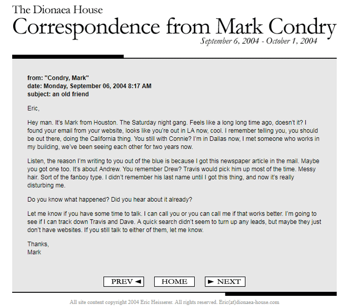 Hell correspondence website real site