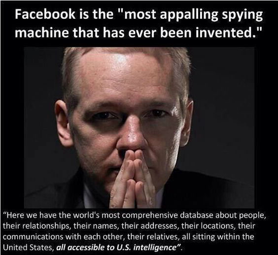Facebook is the World's Most Appalling Spying Machine. – Julian Assange
