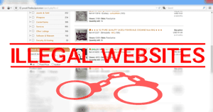 illegal websites