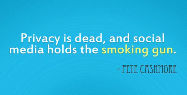 Privacy is Dead, and Social Media Holds the Smoking Gun – Pete Cashmor