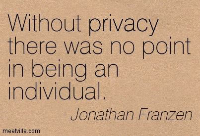 Without Privacy There's no Point in Being an Individual – Jonathan Franzen