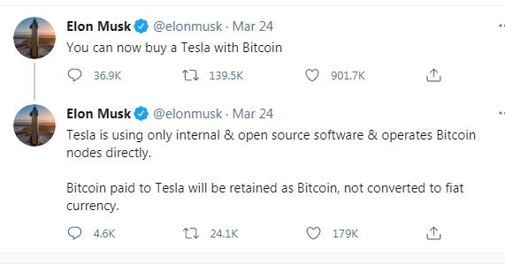 Tesla accepts Bitcoin