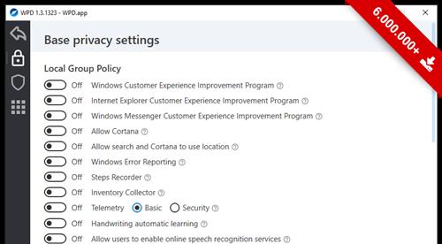 WPD Windows 10 Privacy Fix