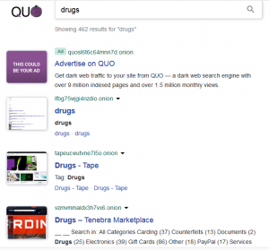Quo darkweb search engine